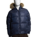 Barney's Co-op Blue Puffy Coat